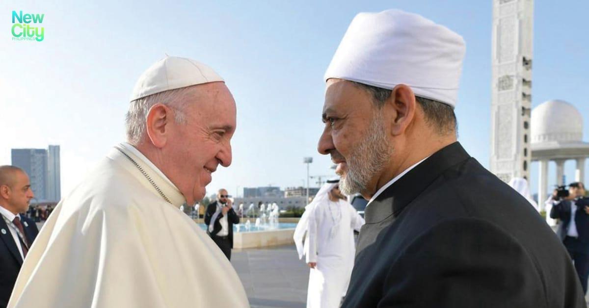 REUTERS: Pope Francis greets Dr. Ahmad Al-Tayyib, the Grand Imam of Al-Azhar Al-Sharif.