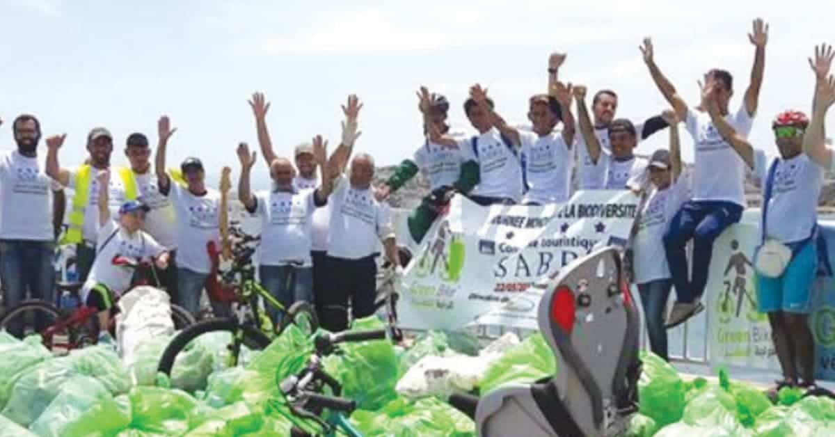 Participants of an awareness campaign for environmental care in Algeria
