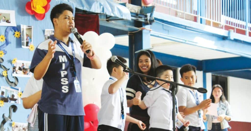 Students of MIPSS performing in various school activities